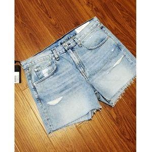 🆕️RAG&BONE Distressed Cut Off Denim Boy Shorts 28
